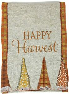 Peek-a-Boo Gnomes Tapestry Table Runner Fall Happy Harvest Home Decoration New