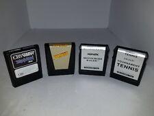 4 Games for Colecovision Motorcross Racer, Tournament Tennis, Zaxxon, Gyruss R21