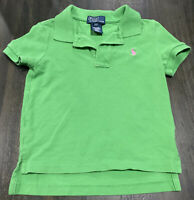 Boys Green/Pink Horse Ralph Lauren Polo Shirt~SZ 2/2T~FREE SHIPPING~100% Cotton~