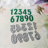 Stanzschablone Zahlen Nummer Ziefer Weihnachten Neujahr Hochzeit Karte Album