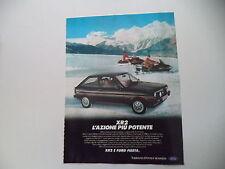 advertising Pubblicità 1982 FORD FIESTA XR2 XR 2