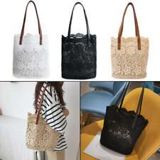 Trend Floral Women Handbag Lace Shopping Bag Tote Shoulder Beach Bags MCB
