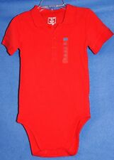The Children's Place RED Short Sleeve Fold Collar Bodysuit Top 18-24 Mo NWT