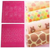 DIY Swiss Roll Tools Design Shape Silicone Pad Biscuit Cookie Baking Mat Cake