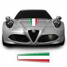 Alfa Romeo 4C Spider Coupe Italian Flag Bonnet Stripe Decal Sticker Graphic