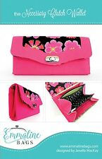 NECESSARY CLUTCH WALLET SEWING PATTERN, from Emmaline Bags, *NEW*