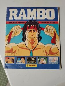 Rambo Sticker Album 1986 Panini almost complete 216/220 Stickers Great Condition