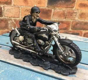 Hell on the Highway Skeleton Biker Ornament by James Ryman Brand New Boxed