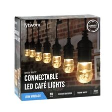 4.5m Lytworx 10 Warm White LED Cafe Connectable Lights Indoor/Outdoor Low Volt.