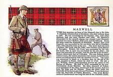 Print SCOTTISH Clan MAXWELL History Genealogy Coat of Arms Tartan Gift Matted