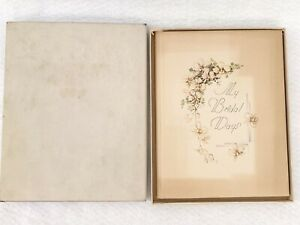 Vintage 1940's CR Gibson Wedding Memories Marriage Memory Bridal Book Album