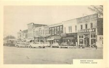 c1960 Printed Postcard; Kansas Ave Street Scene, Columbus KS Cherokee Co. Signs