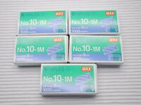 5 boxes Max No.10-1M Staples for MAX HD-10D STAPLER