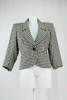2415b6f6ec Yves Saint Laurent Border Tartan Cropped Jacket Size 10 UK/ 38 EU/ 6 US