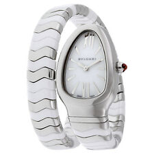 Bvlgari Serpenti Spiga White Lacquered Dial Quartz Ladies Watch 102182