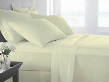 CREAM 400 THREAD COUNT SINGLE FLAT SHEET EGYPTIAN COTTON SATEEN