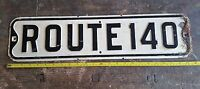 "Vintage Route 140 road sign embossed raised letters 24"" Mancave Transportation"