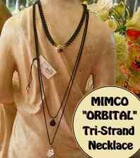 MIMCO ORBITAL TRIPLE STRAND TRI NECKLACE MIMCO BLACK & PEWTER rrp $199 now $110