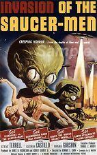 Vintage invasion de la soucoupe Hommes Movie Poster impression A2