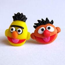 Bert And Ernie Earrings Sesame Street The Muppet Show Funny Gift Idea Earrings