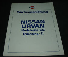 Werkstatthandbuch Nissan Urvan Typ E23 Wartungsanleitung Stand 1985