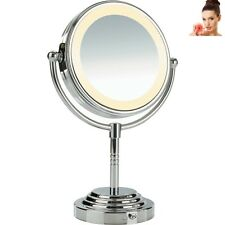 Desktop Beauty Makeup Mirror With Light Double Sided Magnifying Cosmetic Lighted