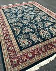 Fine Quality New Blue Floral Area Rug Handmade In India 9'x12' Dense Pile SALE!
