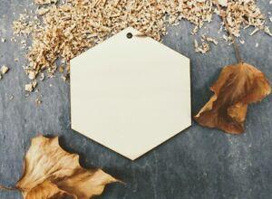 Laser Plywood Hexagon Shape x 10, 4mm Plywood Shapes Wood Shapes