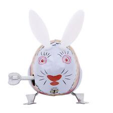 Retro Vintage Rabbit Iron Sheet Wind up Toy Clockwork Collectible Kids Toy LD
