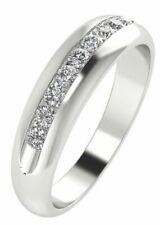 Lab Diamond wedding Ring band 5mm Wide 0.25 Ct F VS2 14K Gold White Yellow Rose