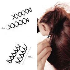 Perno Tornillo De Giro Espiral Cabello Belleza Style Up-do Clip Pasador Pins sostener Twist