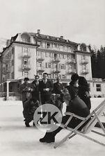 BRIGITTE BARDOT Photographe Neige Montagne Paparazzi GIANCOLOMBO Photo 1950s