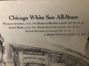 White Sox All Stars Signed Print Jack Simmerling Thomas Ventura Guillen Baines