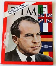 Time Magazine 1969 February 28 Nixon's Europe Trip Vintage Ads Advertisements