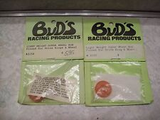 Vintage Bud's Rc Car Parts 2 Sets of #2150 Outer Wheel Hub Drive Ring & Wheel
