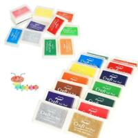 Pigment Stamps Craft Ink Pad for Paper Wood Fabric Making 15 Colours-Card 7 J9F4