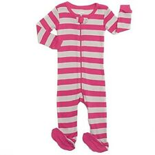 "Leveret Footed ""Striped Baby Girl"" Pajama Sleeper 100% Cotton (Size 2 Years)"