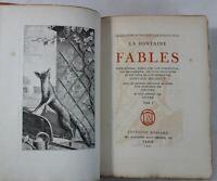 LA FONTAINE Fables 2/2 1/50ex papier d'Auvergne Bossard RELIURES 4 Gravures RARE