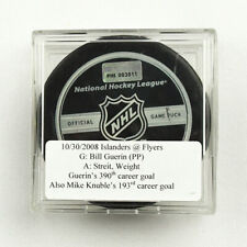 2008-09 Bill Guerin & Mike Knuble Islanders/Flyers Double Goal-Scored Puck