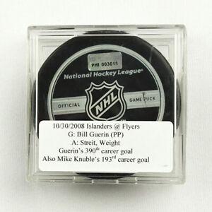 2008-09 Bill Guerin & Mike Knuble Islanders/Flyers Double Goal-Scored Puck
