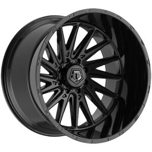 "TIS 547B 22x12 5x5.5"" -44mm Black Wheel Rim 22"" Inch"