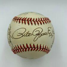 Pete Rose Barry Larkin Cincinnati Reds Legends Signed Baseball JSA COA
