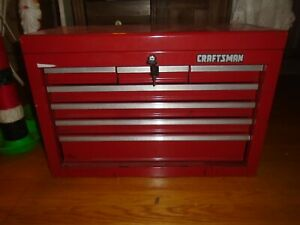 "CRAFTSMAN 7-DRAWER RED STEEL TOOL BOX CHEST- 26"" x 17 1/2"" x 12"""