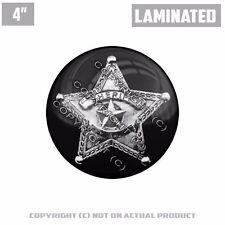 """1 Custom Thick Laminated Glossy 4"""" 3M Premium Decal Sticker SHERIFF STAR BADGE"""