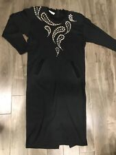 Vintage Cache Long Cotton Dress With Embellishment Size Medium