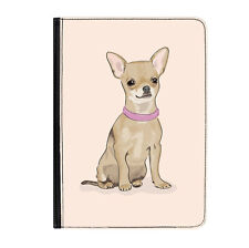 "Chihuahua Pink Dog Puppy Cute Universal Tablet 7"" Leather Flip Case Cover"