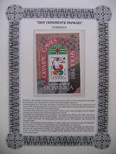 Irrtümer auf Briefmarken / Dominica : Seoul 1988 Olympic Games - Fussball
