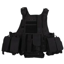 MFH® Tactical Military Police Modular Molle Vest 5 Bags + Hydration Bag¨- Black