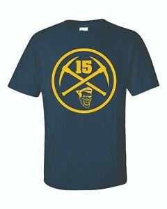 Nikola Jokic Denver Nuggets The Joker 15 Logo Navy Blue T Shirt Tee Sport Fan