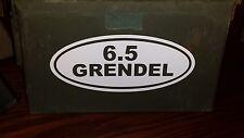 "0026   6.5 Grendel oval 8"" x 3.5"" decal sticker"